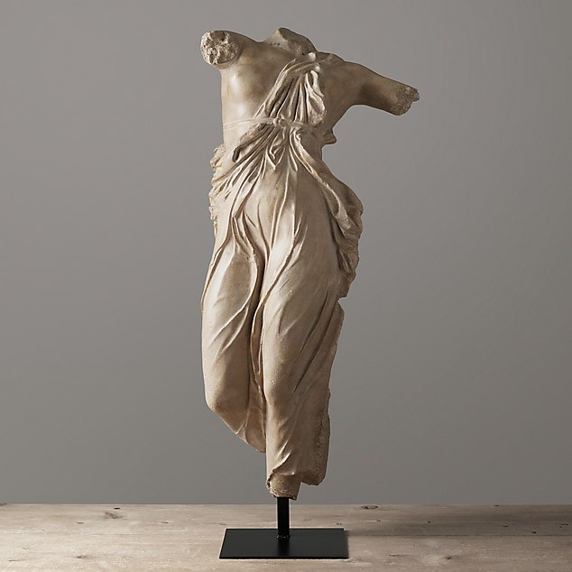 Скульптура Draped female, Restoration Hardware (Америка)