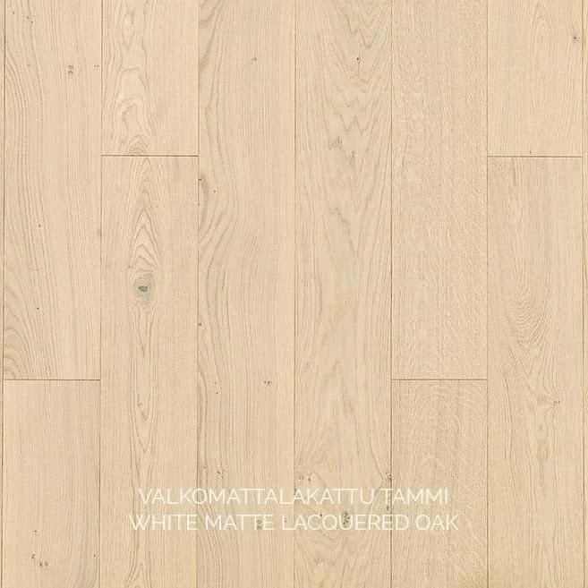 Паркет White Matte Lacquered, Timberwise (Финляндия)