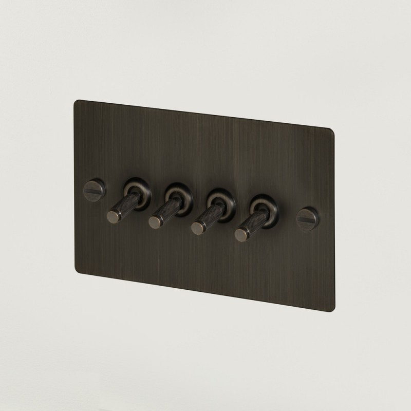 Выключатель четырехклавишный Smoked Bronze, Buster&Punch (Англия)