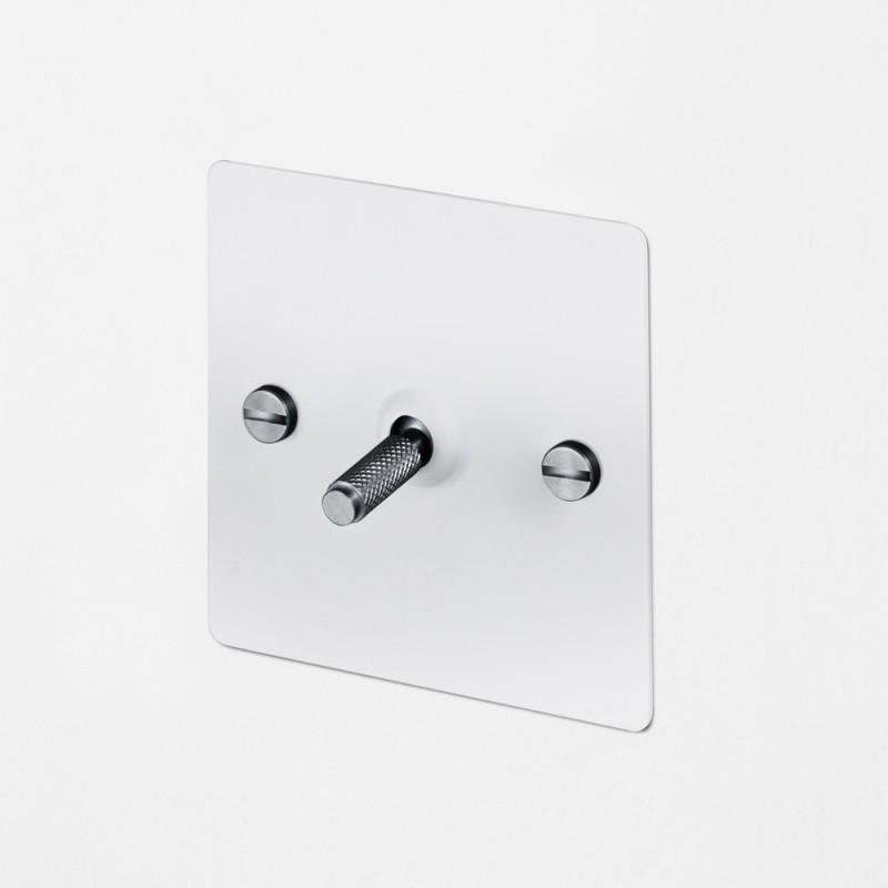 Выключатель промежуточный одноклавишный White/Steel, Buster&Punch (Англия)
