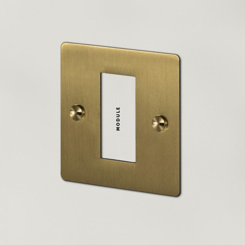 Рамка для одного модуля Brass, Buster&Punch (Англия)