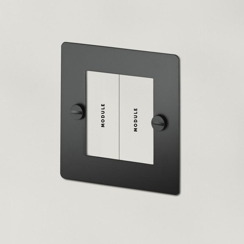 Рамка для двух модулей Black, Buster&Punch (Англия)