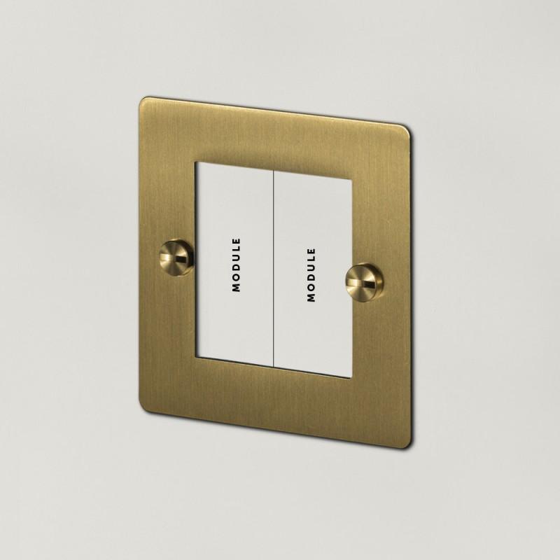 Рамка для двух модулей Brass, Buster&Punch (Англия)