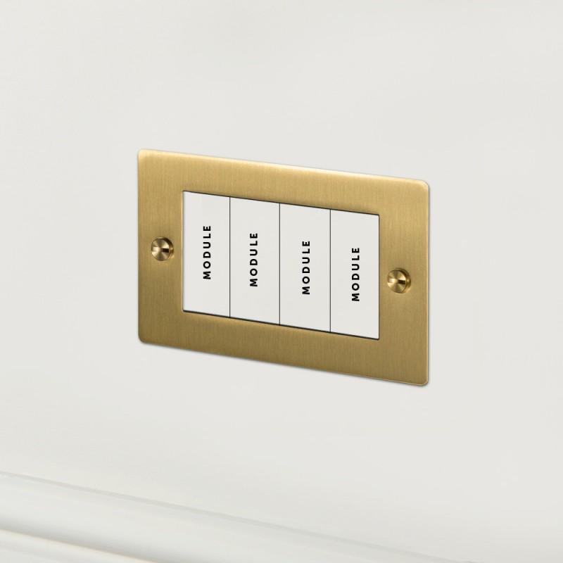 Рамка для четырех модулей Brass, Buster&Punch (Англия)