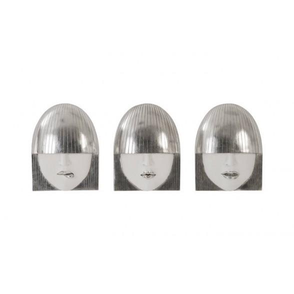 Настенная скульптура Fashion Faces (комплект из 3- штук), Phillips Collection (Америка)