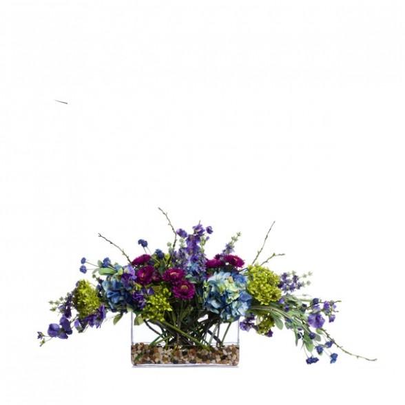 Букет цветов: гортензия, лаванда, Lux Art Silks (Америка)