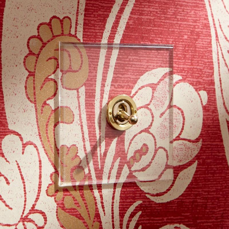 Выключатель одноклавишный Dolly Invisible/Brass, Forbes and Lomax (Англия)